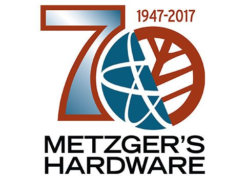 Metzger's 70th Anniversary logo