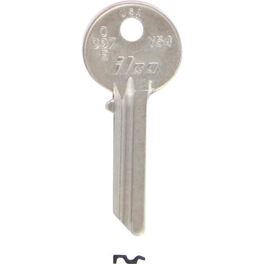ILCO Yale Nickel Plated House Key, Y54 (10-Pack)
