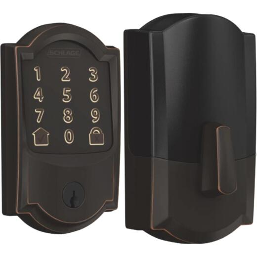 Schlage Encode Smart WiFi Deadbolt with Aged Bronze Camelot Trim
