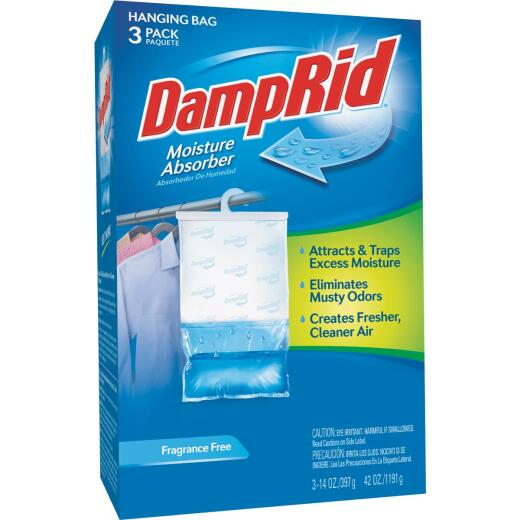 DampRid 42 Oz. Fragrance Free Hanging Moisture Absorber (3-Count)